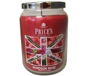 PRICE´S MAXI svíčka ve skle Windsor rose, hoření 150h