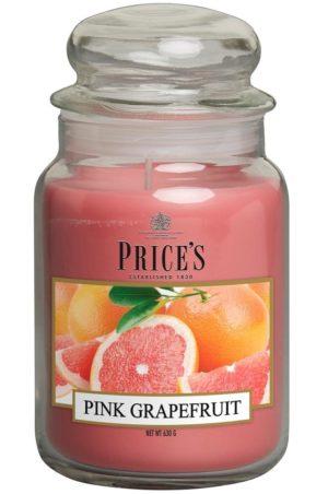 PRICE´S MAXI svíčka ve skle Růžový grapefruit, hoření 150h