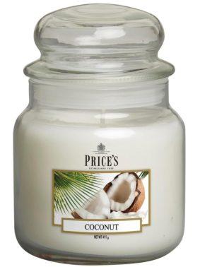 PRICE´S MIDI svíčka ve skle Exotický kokos, hoření 90h