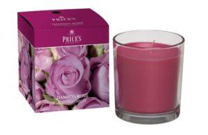 Price´s FRAGRANCE vonná svíčka ve skle Purpurová růže 350g