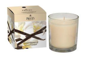 Price´s FRAGRANCE vonná svíčka ve skle Sladká vanilka 350g