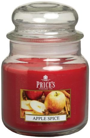 PRICE´S MIDI svíčka ve skle Jablko & Koření, hoření 90h