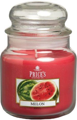 PRICE´S MIDI svíčka ve skle Sladký meloun, hoření 90h