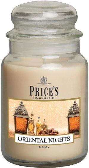 PRICE´S MAXI svíčka ve skle Oriental Nights, hoření 150h
