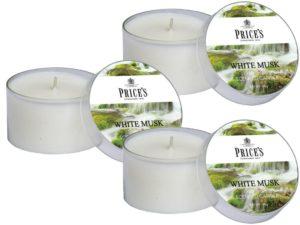 Price´s FRAGRANCE vonné svíčky Bílé pižmo 123g 3ks