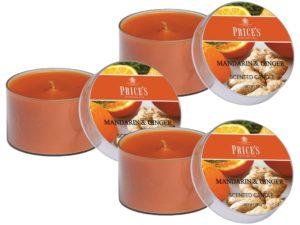 Price´s FRAGRANCE vonné svíčky Mandarinka & Zázvor 123g 3ks