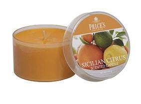 Price´s FRAGRANCE vonné svíčky Sicilské citrusy 123g 3ks