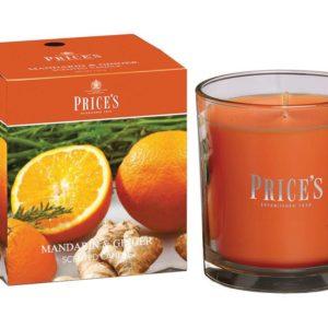 Price´s FRAGRANCE vonná svíčka ve skle Mandarinka & Zázvor 350g