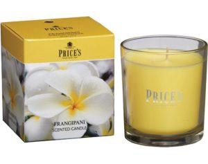 Price´s FRAGRANCE vonná svíčka ve skle Frangipani 350g