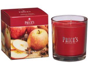 Price´s FRAGRANCE vonná svíčka ve skle Jablko & Koření 350g