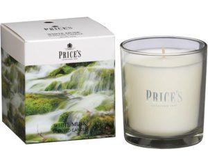 Price´s FRAGRANCE vonná svíčka ve skle Bílé pižmo 350g
