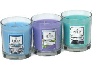 Price´s FRAGRANCE vonné svíčky ve skle – set Relax 3x350g