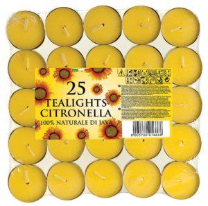 Aladino Citronella vonné čajové svíčky 25ks