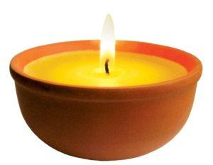 Aladino Citronella vonná svíčka v misce – sada 2 ks