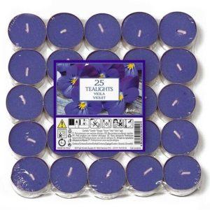 Aladino vonné čajové svíčky Fialka 25ks