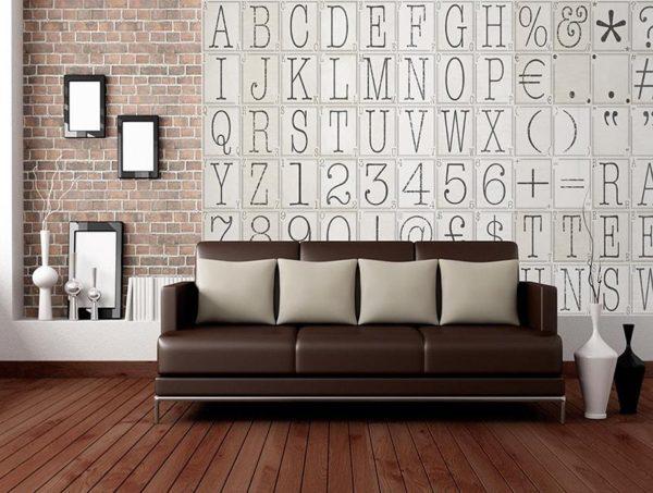 1Wall Kreativní koláž 64 dílů 37,5 x 27,5cm Klasické písmo