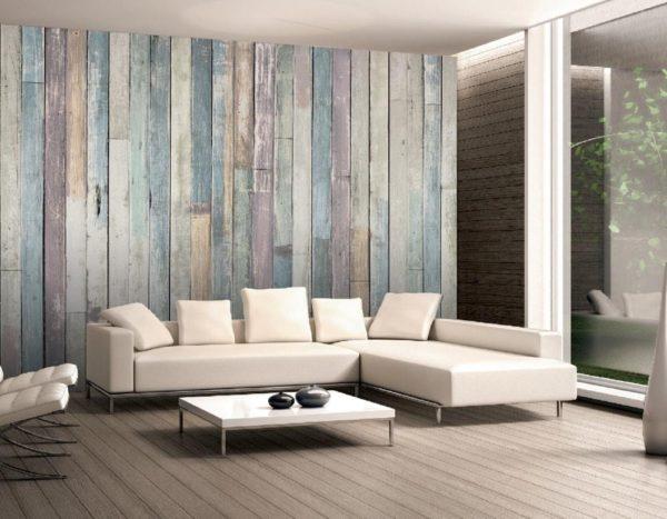 1Wall Vliesová fototapeta Dřevěné obložení stěny 366x253 cm