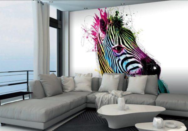 1Wall Vliesová fototapeta Murciano Zebra 366x253 cm