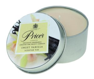 Price´s FRAGRANCE vonné svíčky Sladká vanilka 123g 3ks