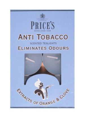 Price´s FRESH AIR vonné čajové svíčky Anti tobacco 30ks