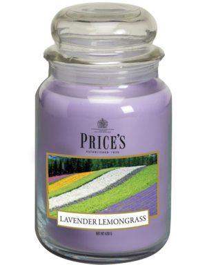 PRICE´S MAXI svíčka ve skle Levandule&Lemongrass, hoření 150h