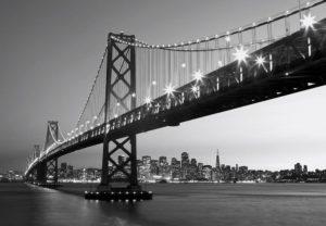 Wizard+Genius W+G vliesová fototapeta San Fransico Skyline 366×254 cm