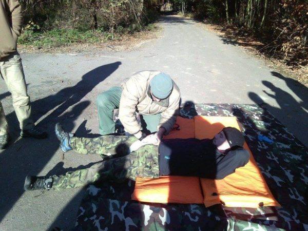 Foto: vojenský kurz první pomoci