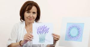 Levandulové relaxační malování suchým pastelem