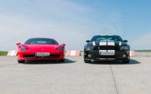 Ferrari 458 Italia vs. Ford Mustang GT500 Shelby
