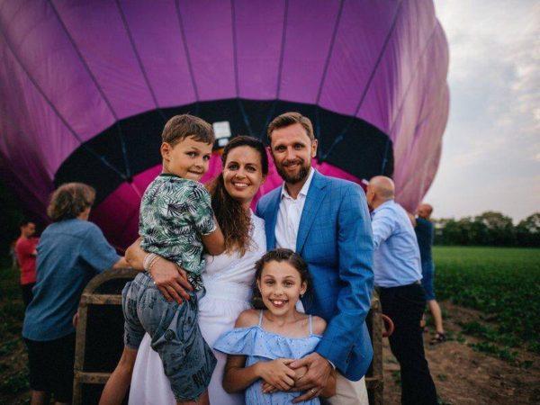 Fotografie: svatba v balónu