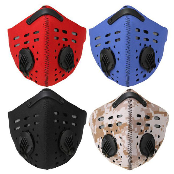 Fotografie: maska na outdoorové aktivity proti prachu