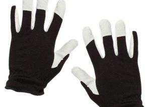 Fotografie: černobílé pracovní rukavice