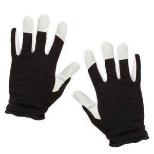 Černobílé pracovní rukavice