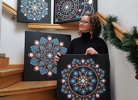 Fotografie: Lucia Čapková - malování mandal