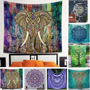 Barevná tapiserie na zeď 150 x 130 cm – 7 motivů
