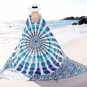 Univerzální bohémský šátek s motivem mandaly – barevný