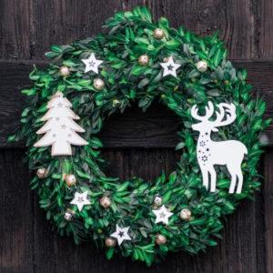 Fotografie: jak vytvořit vánoční věnec na dveře