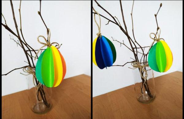 Fotografie: závěsné velikonoční kraslice z papíru