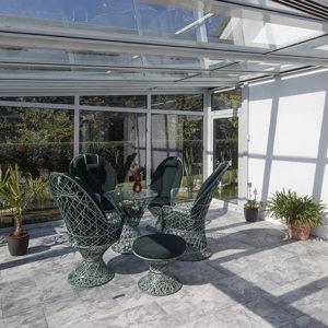 zasklená terasa