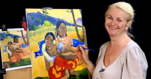 Malování slavných obrazů pravou hemisférou
